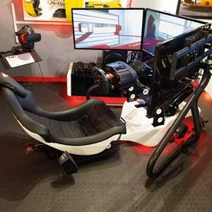 Formula One Race Seat Simulation in triple screen.