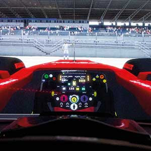 Formula One Race Seat Simulation in virtual Reality. 30 minutes