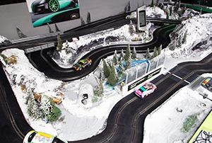 Ice Mania Scalextric track at Stonerig Raceway