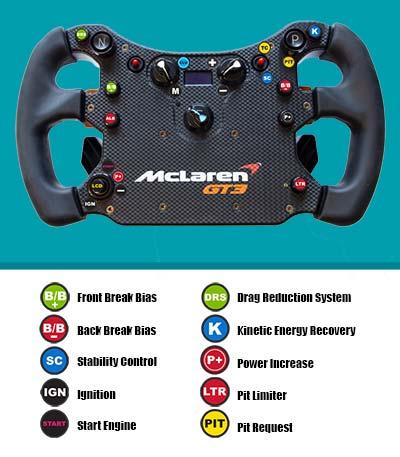 McLaren GT3 Touring car steering wheel