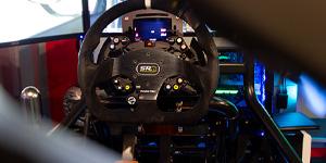 Touring Car simulation triple screen