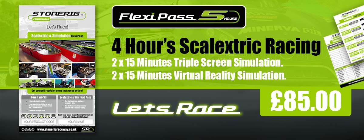 Scalextric Flexi Pass race for 5 hours
