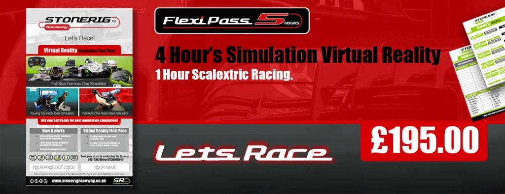 Simulation Flexi Pass for 5 hours racing in triple screen and virtual reality